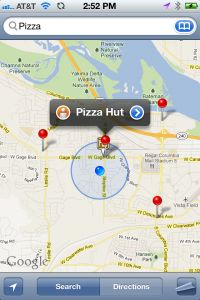 Search for Pizza and see local results