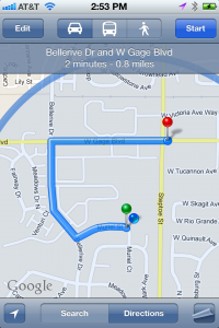 Instantly get directions to your location