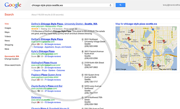 """Google National Search with Regional Search Term """"Seattle, WA"""""""