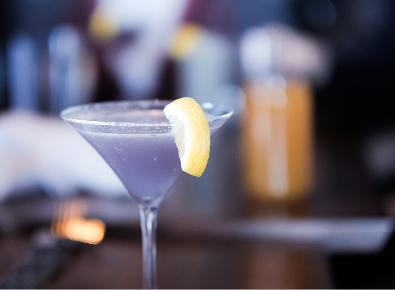 Damien's Choice, the lavender infused cocktail