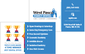 West Pasco Family Dental Business Cards